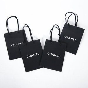 Lot of 4 Chanel Mini Paper Shopping Bags